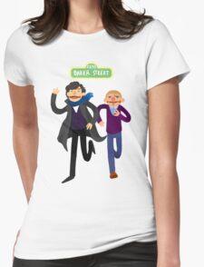 Puppety Sherlock and John Womens Fitted T-Shirt