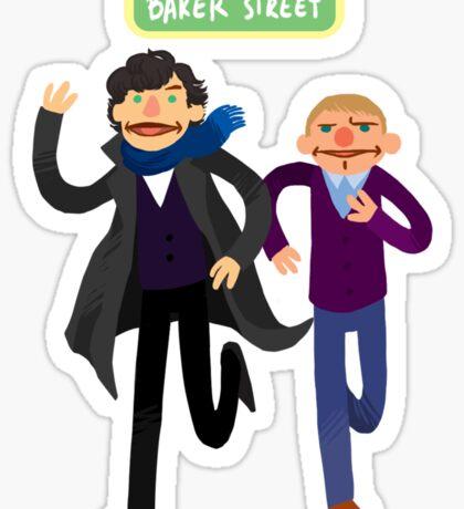 Puppety Sherlock and John Sticker