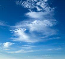 Blue Sky White Dargon Clouds by nuttakit