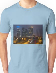 skyscrapers in fog Unisex T-Shirt