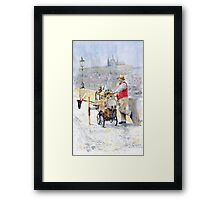 Prague Charles Bridge Organ Grinder-Seller Happiness  Framed Print