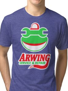 ARWING SERVICE & REPAIR Tri-blend T-Shirt