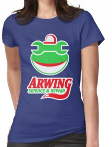 ARWING SERVICE & REPAIR Womens Fitted T-Shirt