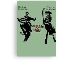 Mr. & Mrs. Pond - Doctor Who Canvas Print