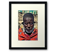 Portrait of a Maasai Woman Framed Print