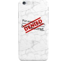 Newton's 1st Law Of Bureaucracy - Marble iPhone Case/Skin