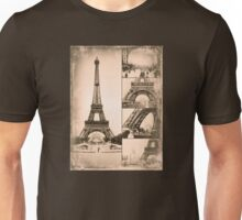 Eiffel Tower Paris Vintage Collage Unisex T-Shirt