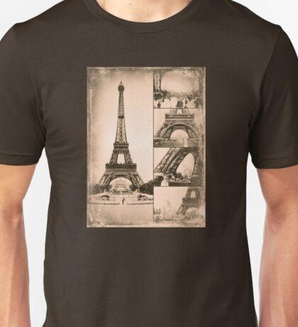 Eiffel Tower Paris Vintage Collage Unisex T-Shirt