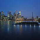 Marina Bay, Singapore at dusk.  by Ralph de Zilva