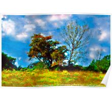 Trees - Fields and Blue Skies Poster
