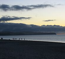 Fishing off the shore at Moana beach, South Australia by QuirkyBird