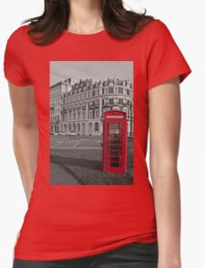 Isolated Phone Box Womens Fitted T-Shirt