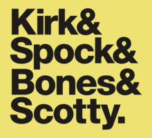 Kirk& Spock& Bones& Scotty. Kids Clothes