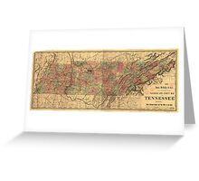 Vintage Tennessee Railroad Map (1888) Greeting Card