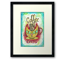 Coffee Cats Framed Print