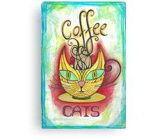 Coffee Cats Canvas Print
