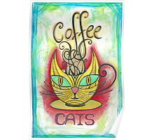 Coffee Cats Poster