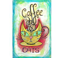 Coffee Cats Photographic Print
