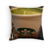 GREEN TEA LATTE Throw Pillow