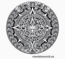 Mayan Calendar Dark by Mandala's World