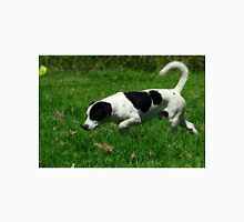 Black and White Dog in a Field Unisex T-Shirt
