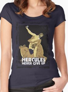HERCULES NEVER GIVE-UP Women's Fitted Scoop T-Shirt