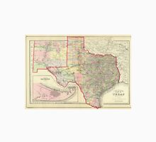 Vintage Map of Texas (1890) Unisex T-Shirt