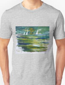 Green Seascape At Night 2005 Unisex T-Shirt
