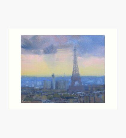 Approaching storm, Paris Art Print
