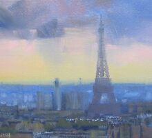 Approaching storm, Paris by Tash  Luedi Art