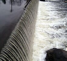Rockaway River Grace Lord Park Dam, Boonton NJ by Jane Neill-Hancock