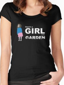 """""""There's a girl in the garden"""" Women's Fitted Scoop T-Shirt"""