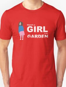 """There's a girl in the garden"" Unisex T-Shirt"