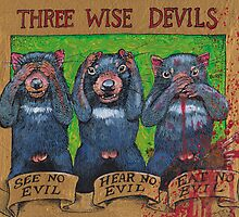 three wise devils by SnakeArtist