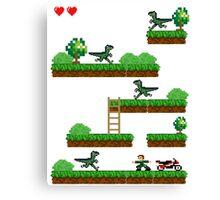 pixel jurassic p Canvas Print