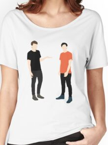 Dan and Phil Plain Women's Relaxed Fit T-Shirt