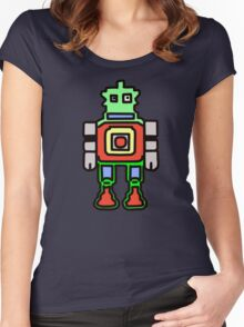 bobby the robot Women's Fitted Scoop T-Shirt