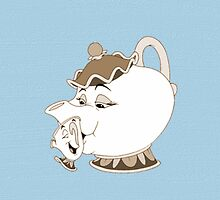 Vintage Mrs Potts & Chip - Beauty and the Beast by SBRGdesign