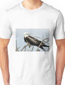 Frigate Bird on a Branch Unisex T-Shirt