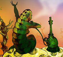 Alice and the Hookah Smoking Caterpillar by Grant Wilson