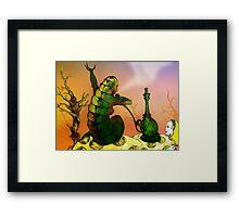 Alice and the Hookah Smoking Caterpillar Framed Print