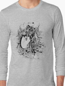 Vintage Fairies Magic Illustration Antique Ink Artwork Dictionary Book Page Art Long Sleeve T-Shirt