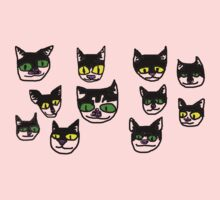 several crude cats Kids Clothes