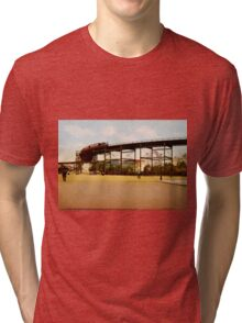 Elevated Train at 110th Street NYC Photo-Print Tri-blend T-Shirt