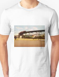 Elevated Train at 110th Street NYC Photo-Print T-Shirt