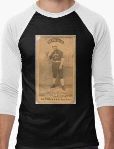 Benjamin K Edwards Collection Emil Geiss Chicago White Stockings baseball card portrait 002 Men's Baseball ¾ T-Shirt