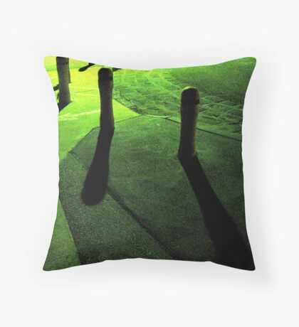 green post its Throw Pillow