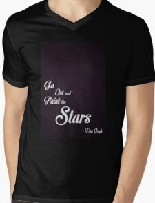 Go Out and Paint the Stars Mens V-Neck T-Shirt