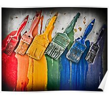 Paintbrushes Poster