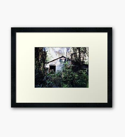 Once Upon a Time, There was a House in the Forest Framed Print